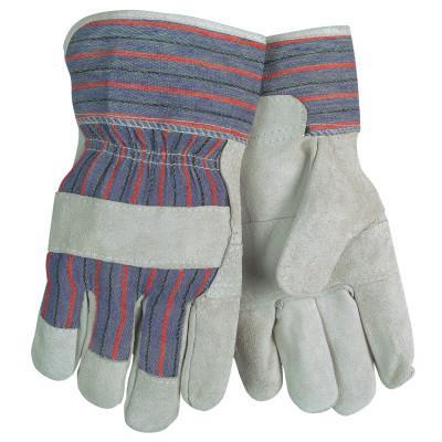 MEMPHIS GLOVE Economy Leather Patch Palm Glove, Large, Cow Split Shoulder Leather