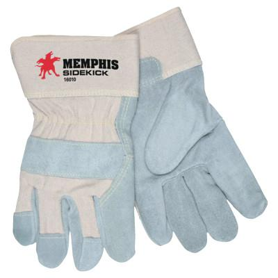MEMPHIS GLOVE Sidekick Side Leather Gloves, Large, Leather
