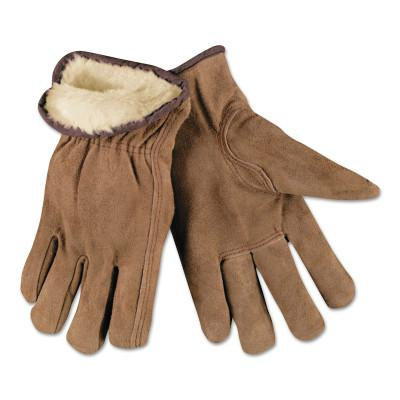 MEMPHIS GLOVE Insulated Drivers Gloves, Premium Grade Cowhide, Medium, Piled Lining