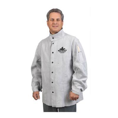MEMPHIS GLOVE Leather Welding Jacket, Medium, Gray