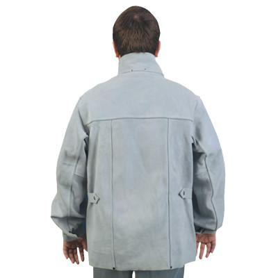 MEMPHIS GLOVE Leather Welding Jacket, X-Large, Gray