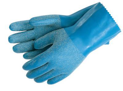 MEMPHIS GLOVE Blue Grit Gloves, Large, Blue