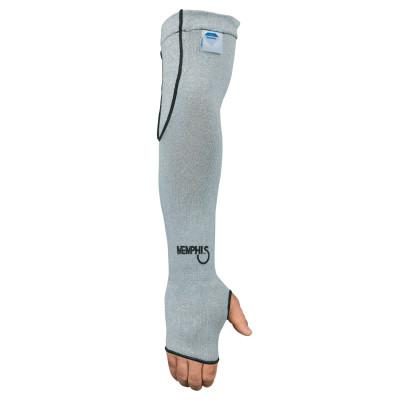 MEMPHIS GLOVE Dyneema Sleeves with Thumbhole, 10 Gauge Dyneema, 18 in Long, Gray,