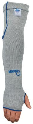 MEMPHIS GLOVE Dyneema Sleeves with Thumbhole, 7 Gauge Dyneema, 18 in Long, Gray/Blue,