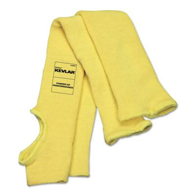 MEMPHIS GLOVE Cut Resistant Sleeves, Single Ply, 18 in Long, Yellow