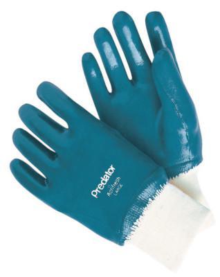 MEMPHIS GLOVE Nitrile Coated Gloves, Large, Blue