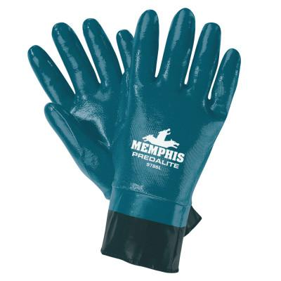 MEMPHIS GLOVE Predalite Nitrile Gloves, X-Large, Black/Blue