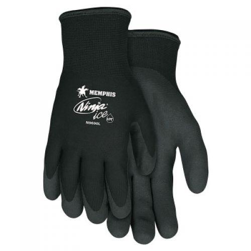 Memphis Glove Ninja Ice Gloves, Acrylic, Nylon, HPT Size X-Large 15 gauge (7 gauge liner) Black HPT