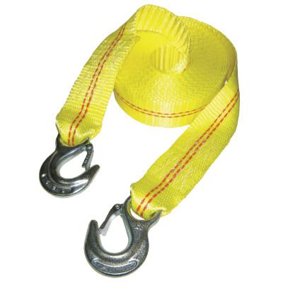 KEEPER Vehicle Recovery Straps, Steel Hooks, 2 in W, 25 ft L, 5,000 lb Capacity