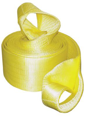 KEEPER Vehicle Recovery Straps, Looped Web, 6 in W, 30 ft L, 30,000 lb Capacity