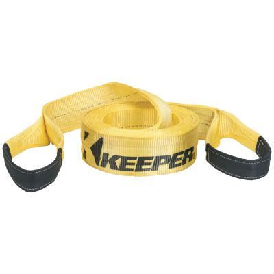 "KEEPER HD Vehicle Recovery Straps, 6"" x 30 ft, 37K lb Vehicle Cap./75K lb Web Strength"