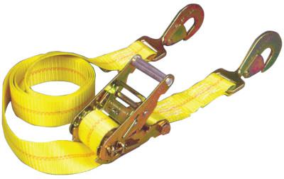 KEEPER Ratchet Tie-Down Straps, Twisted Snap Hooks, 2 in W, 10 ft L, 6,000 lb Capacity