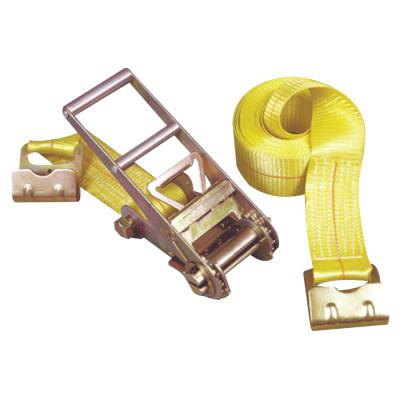 KEEPER Ratchet Tie-Down Straps, Flat Hooks, 3 in W, 27 ft L, 15,000 lb Capacity