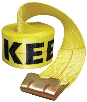 """KEEPER Winch Strap, 30'x4"""" 15,000 lbs w/Flat Hook"""