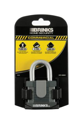 "KEEPER Brinks Home Security Commercial Steel Padlocks, 3/8"" Dia., Black/Gray, 6/PK"