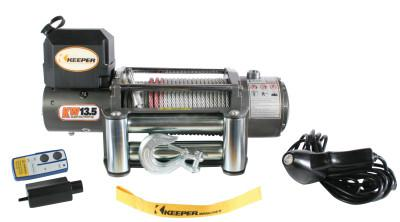 KEEPER Heavy Duty Series 12 Volt DC Electric Winches, 13,500 lb Load Cap.