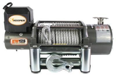 KEEPER Heavy Duty Series 12 Volt DC Electric Winches, 17,500 lb Load Cap.
