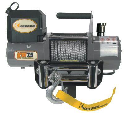 KEEPER Heavy Duty Series 12 Volt DC Electric Winches, 8,500 lb Load Cap.
