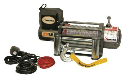 KEEPER Heavy Duty Series 12 Volt DC Electric Winch, 9,500 lb Load Cap.