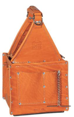 IDEAL INDUSTRIES Tuff-Tote Ultimate Tool Carriers, 7 Compartments, Brown, Premium Leather