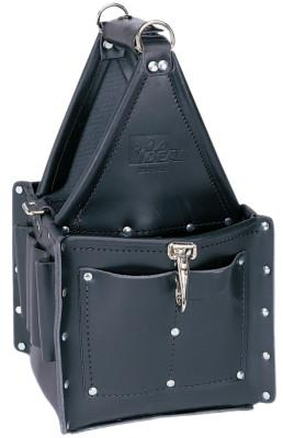 IDEAL INDUSTRIES Tuff-Tote Ultimate Tool Carriers, 7 Compartments, Black, Leather