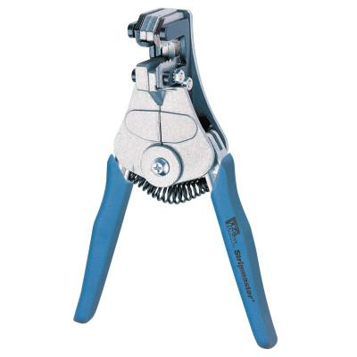 IDEAL INDUSTRIES Wire Strippers, 7 1/4 in, 10-22 AWG, 1/11;1/14;1/21;18/125;2/33;6/53 in, Blue