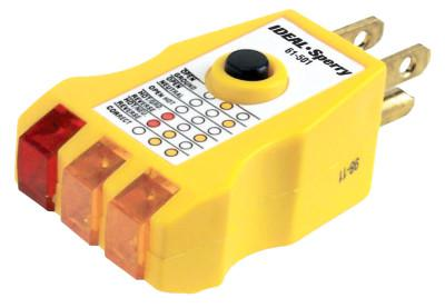 IDEAL INDUSTRIES E-Z Check Plus GFCI Circuit Testers, 120 VAC