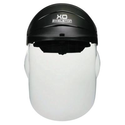 CREWS XO Skeleton Headgear with Molded Faceshield, Clear Polycarb Faceshield