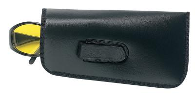 CREWS Eyeglass Cases, Lined Vinyl, Large, Open End, Black