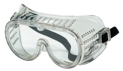 CREWS Protective Goggles, Clear/Clear, PVC, Antifog, Chemical Resistant, Indirect Vent