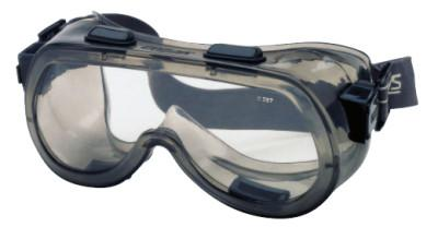 CREWS Verdict Goggles, Clear/Gray, Scratch Resistant, Elastic Strap