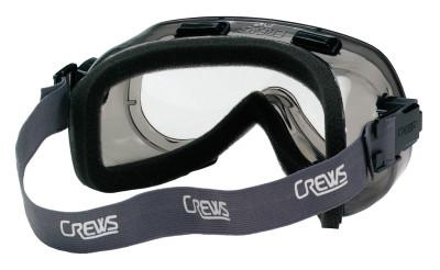 CREWS Verdict Goggles, Clear/Gray, Scratch Resistant, Foam Lining, Elastic Strap