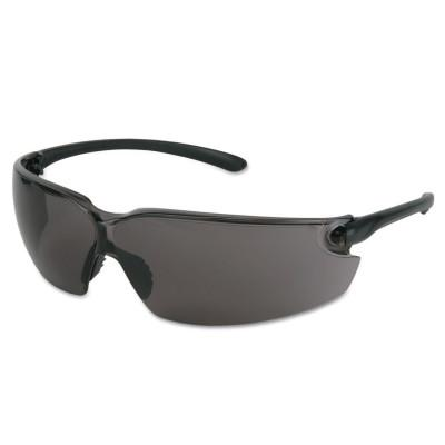 CREWS BlackKat Safety Glasses, Gray Lens, Duramass Scratch-Resistant