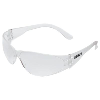 CREWS Checklite Safety Glasses, Clear Lens, Scratch-Resistant, Clear Frame