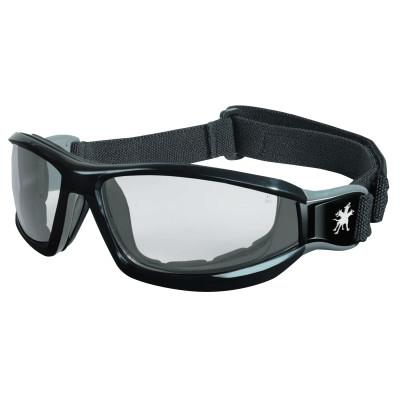 CREWS Reaper Safety Goggles, Anti-Fog, Clear Lens