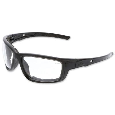 CREWS CHARCOAL FRAME, CLEAR UV-AF LENS