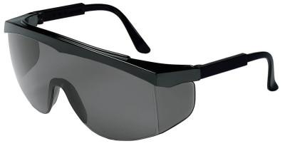 CREWS Stratos Spectacles, Gray Lens, Polycarbonate, Duramass HC, Black Frame, Nylon