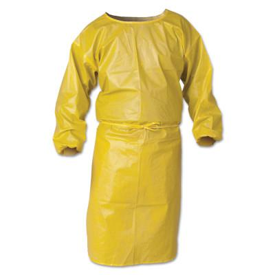 KIMBERLY-CLARK PROFESSION KleenGuard A70 Chemical Spray Protection Smocks, 44 in,Yellow