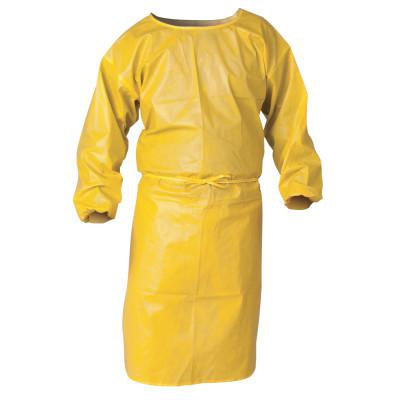 KIMBERLY-CLARK PROFESSION KleenGuard A70 Chemical Spray Protection Smocks, 52 in, Polypropylene, Yellow