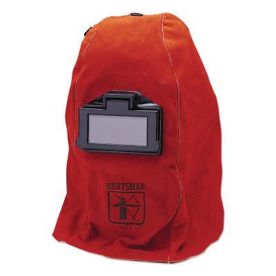 HUNTSMAN WH20 860P Leather Welding Helmet, Green; #10, Red, 860P, 2 in x 4 1/4 in