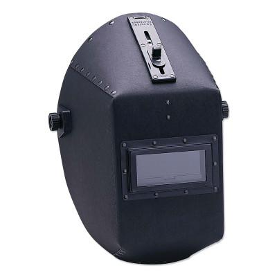 HUNTSMAN WH20 490P Fiber Shell Welding Helmet, Green; #10, Black, 490P, 2 in x 4 1/4 in