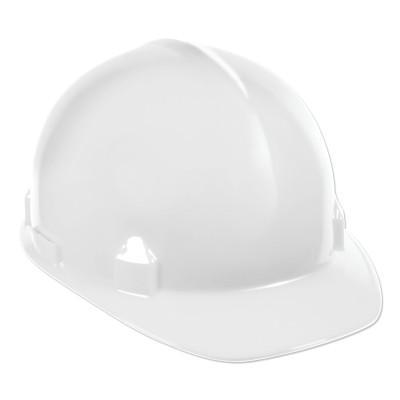 JACKSON SAFETY SC-6 Hard Hat, 4-point Ratchet, Front Brim Safety Cap, White