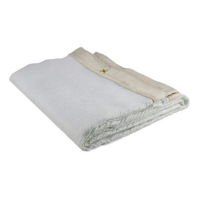 WILSON INDUSTRIES Uncoated Fiberglass Welding Blankets, 6 ft X 8 ft, Fiberglass, Beige