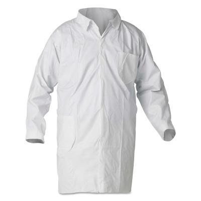 KIMBERLY-CLARK PROFESSION KleenGuard A40 Liquid & Particle Protection Lab Coats, 3XL, Chest & Hip Pocket