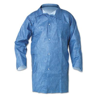 KIMBERLY-CLARK PROFESSION KleenGuard A60 Bloodborne Pathogen & Chemical Splash Protection Lab Coats, 2XL