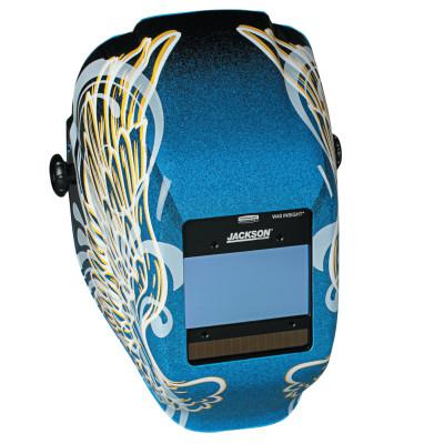 JACKSON SAFETY WH40 Insight Halo X Variable Welding Helmet, Green; 9-13, Blue w/Gold Wings