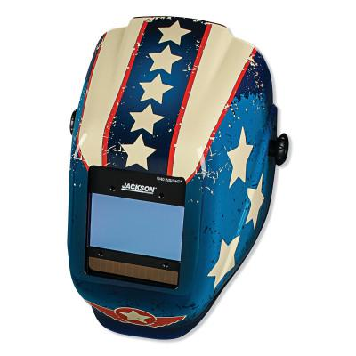 JACKSON SAFETY WH40 Insight Halo X Variable Welding Helmet, GN; 9-13, Stars & Scars (RD WH BL)