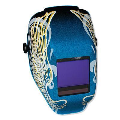 JACKSON SAFETY Truesight II Digital Variable ADF Welding Helmet, Blue w/Gold Wings