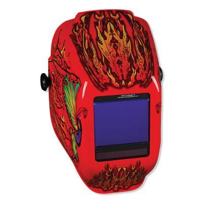 JACKSON SAFETY Truesight II Digital Variable ADF Welding Helmet, Flaming Butterfly (RD/OR)