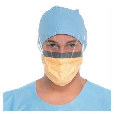 KIMBERLY-CLARK PROFESSION Fluidshield Surgical Mask with Visor, Fog-Free, Clear/Orange